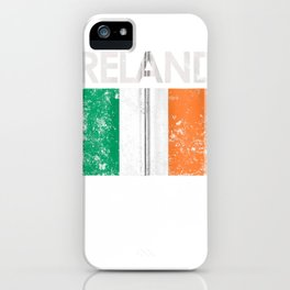 vintage ireland irish flag pride gift zip tee iPhone Case