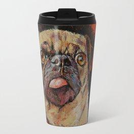 Pug Portrait Travel Mug