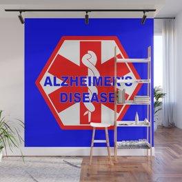 Alzheimer dementia medical identification ID tag Wall Mural