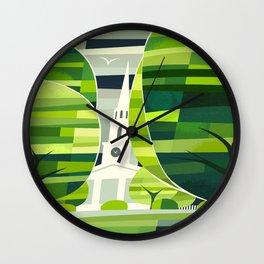 Town Green Wall Clock