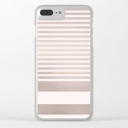Rose Gold and Pink Stripes Mix Pattern Clear iPhone Case
