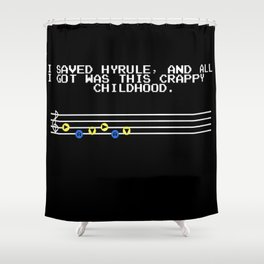 Legend of Zelda - All I Got Was This Crappy Childhood Shower Curtain