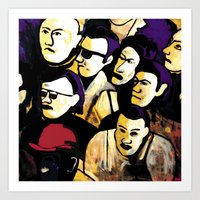 faces Art Prints featuring Faces by Helen Syron