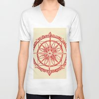wander V-neck T-shirts featuring Wander by Samantha Crepeau