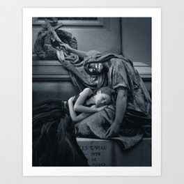 She Talks to Angels (Part 2) Art Print