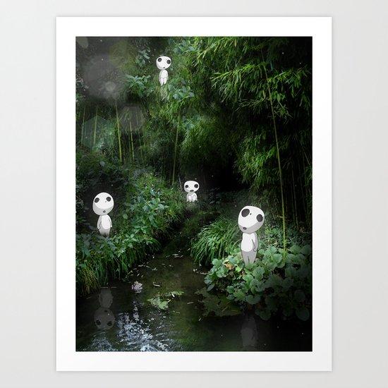 Forest Spirits (Kodama)   Art Print