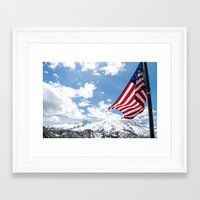american Framed Art Prints featuring American by Dana Brown