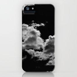 clouds black iPhone Case