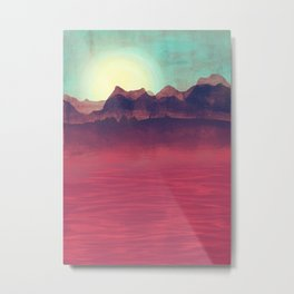 Distant Mountains Metal Print