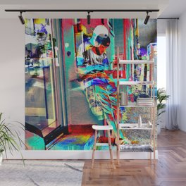 Lean In On 3rd Dimension Wall Mural