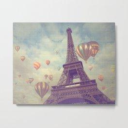 Balloons over Paris Metal Print