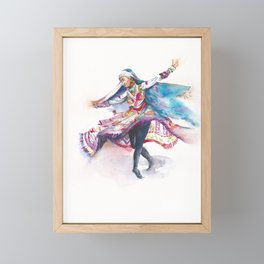 Indian Folk Dance Framed Mini Art Print