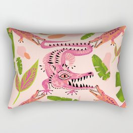 Crocodile love 2 Rectangular Pillow