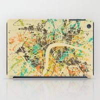 london map iPad Cases featuring LONDON MAP by Nicksman