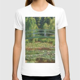 The Japanese Footbridge and the Water Lily Pool - Claude Monet T-shirt