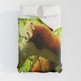 Chilling Red Panda Duvet Cover