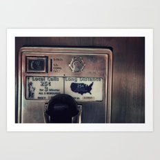 Pay Phone III Art Print