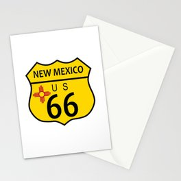 Route 66 New Mexico Flag Stationery Cards