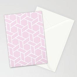 Pink and White Lattice  Stationery Cards