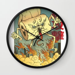 Toilet Paper Monster Wall Clock