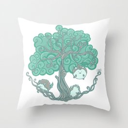 Hedgehogs Grow On Trees Throw Pillow