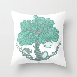 Hedgehogs Grow On Trees Throw Pillow