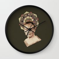 ben giles Wall Clocks featuring Giles by mycolour