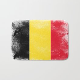 Belgium flag isolated Bath Mat