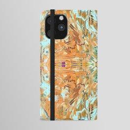 Humming Bird Orange iPhone Wallet Case