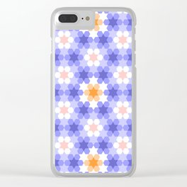 Stars and hexagons Clear iPhone Case
