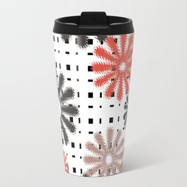 Abstraction. Colorful daisies background. Travel Mug