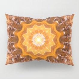 Orange Fire Mandala art - solar plexus chakra Pillow Sham