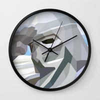 snow Wall Clocks featuring Snow by Liam Brazier