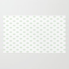 Green Spotty Pattern  Rug