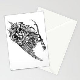 Mechanical Owl | Line Art Stationery Cards