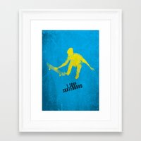 skateboard Framed Art Prints featuring skateboard  by Easyposters