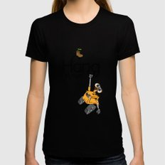Pixar/Disney Wall-e Hang in There SMALL Black Womens Fitted Tee