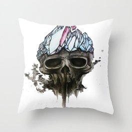 Death of the Crystal King Throw Pillow