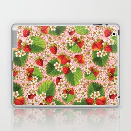 Pink Paisley Strawberries Laptop & iPad Skin