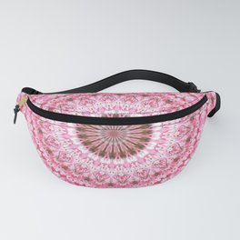 PRETTY PINK SPRING FLOWERS MANDALA Fanny Pack