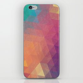 Geometric art iPhone Skin