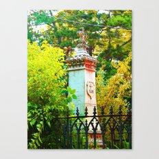 Behind The Gate Canvas Print