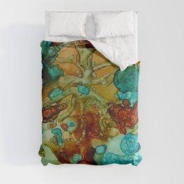 flora beginnings Abstract Duvet Cover