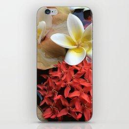Frangipani & Ixora iPhone Skin