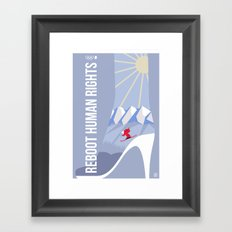 Winter games Framed Art Print