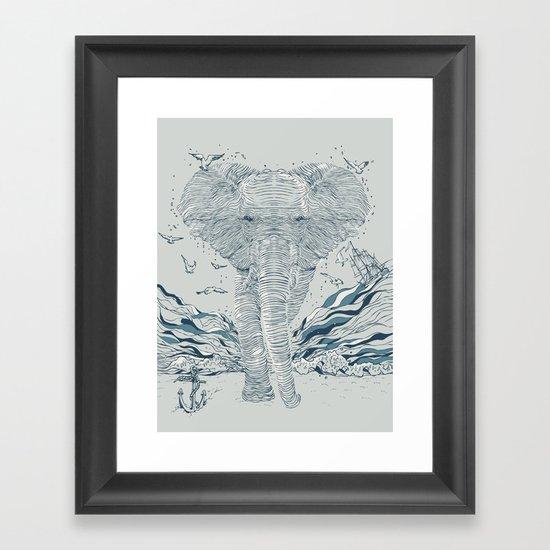 THE OCEAN SPIRIT Framed Art Print