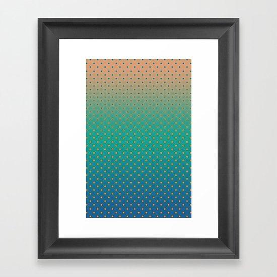 Polka Plankton Blue Framed Art Print
