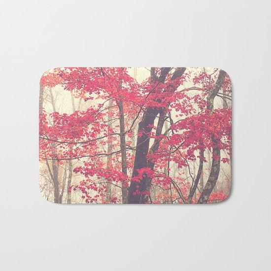 Autumn Red Bath Mat