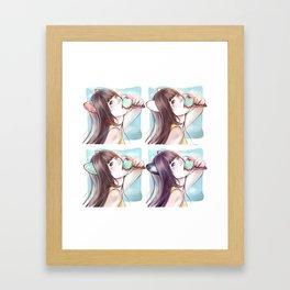 Hanyoko mixed*GirlsCollection* Framed Art Print