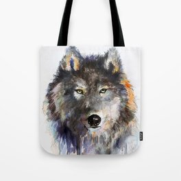 Charcoal Wolf Tote Bag